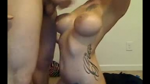 Blonde girl interracially drilled