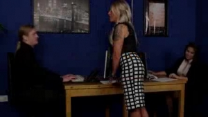 Secretary of the office for cocksucking hot sex party