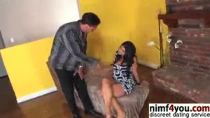 Dirty housewife babe masturbating